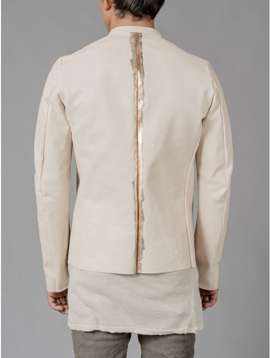 Daniele Basta Oxidized Leather jacket