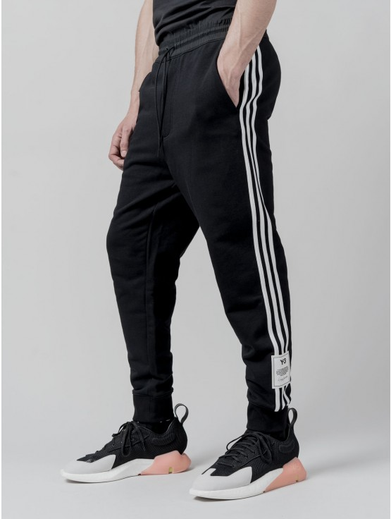 Y-3 3-STRIPES TERRY CUFFED JOGGERS