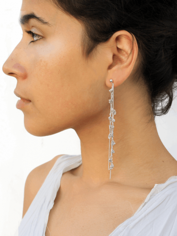 Punt Silver Earrings