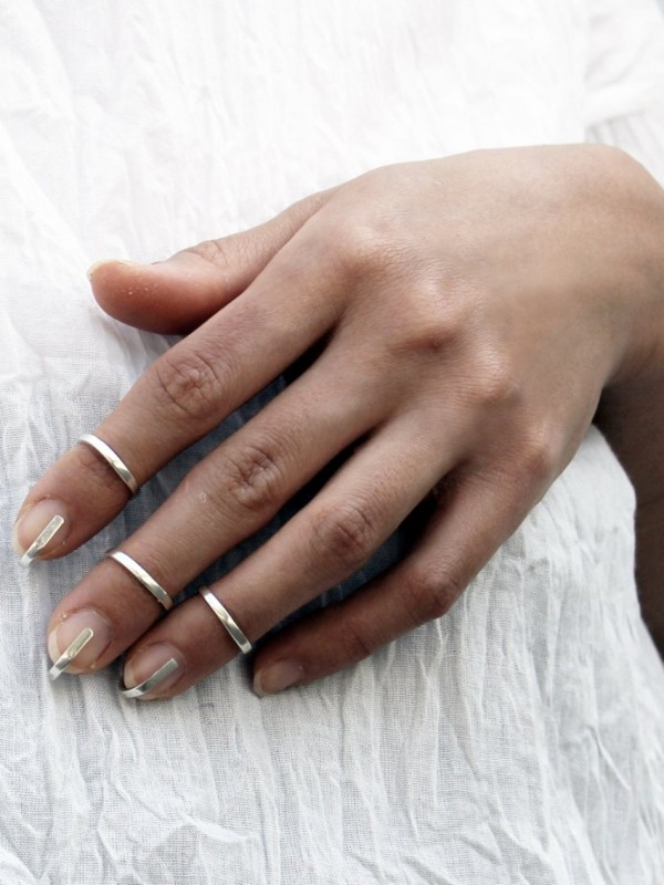 CAGE SILVER RING